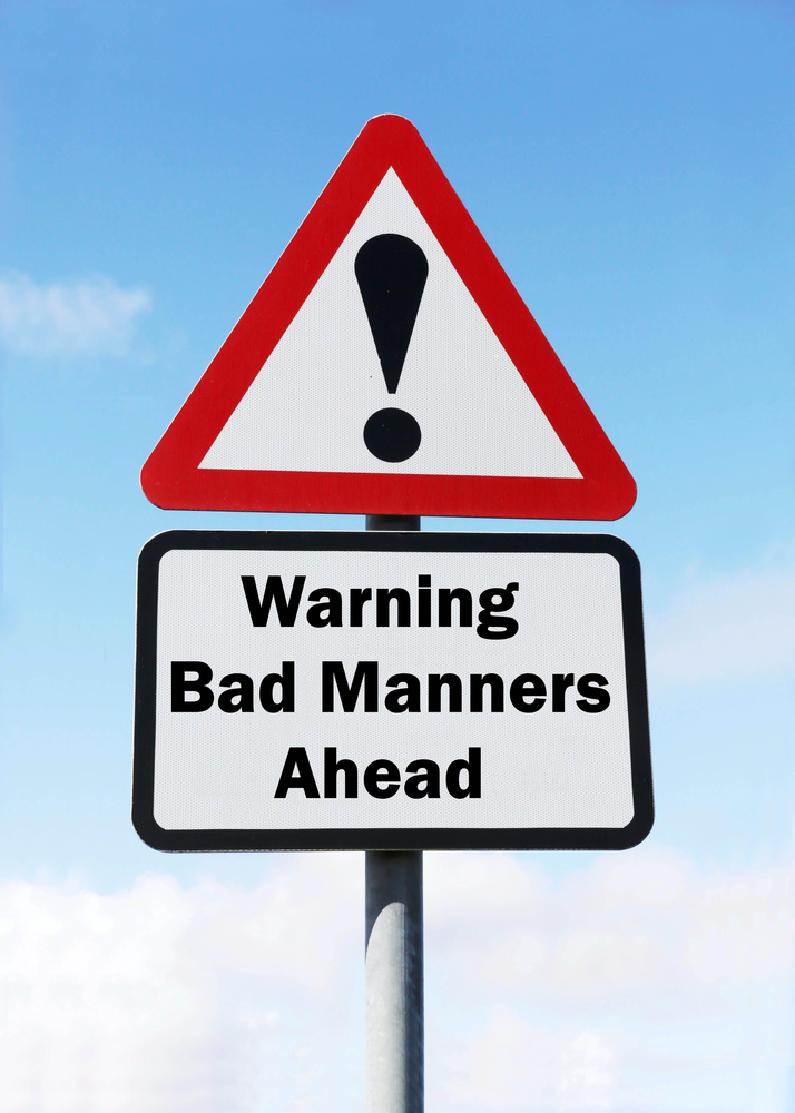 bad manners at trade shows